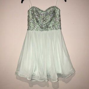 Aquamarine Mini Formal Dress